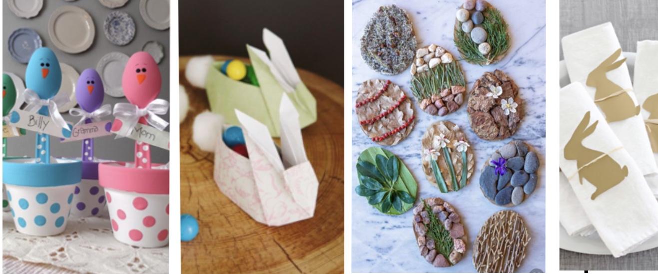 Réaliser une jolie table de Pâques avec vos enfants