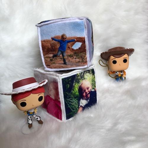 cube photos en tissu tout doux